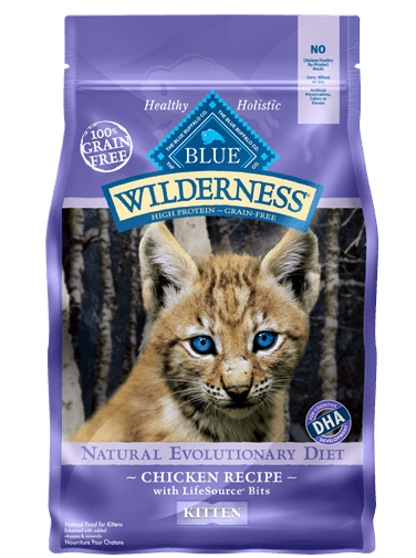 Blue Buffalo Wilderness Chicken Recipe For Kittens Dry Cat Food